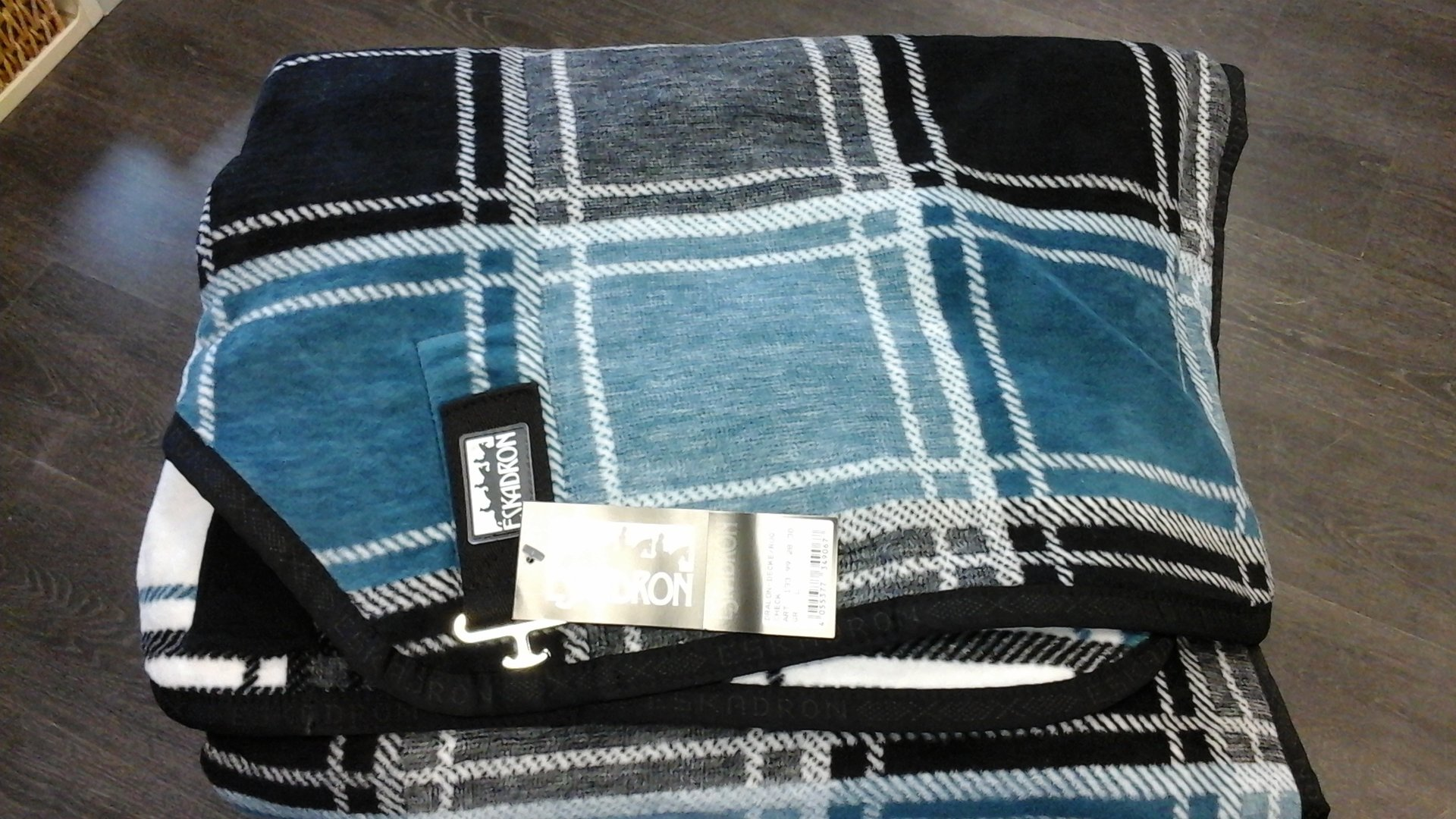 abschwitzdecke dralon check petrol white black gr e l. Black Bedroom Furniture Sets. Home Design Ideas
