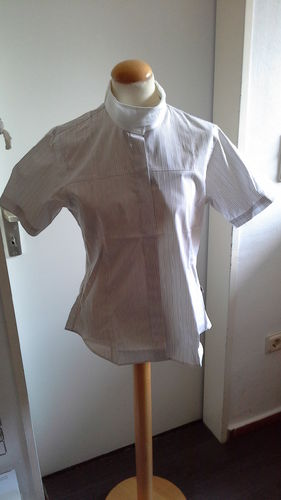 Bluse Turnier Stretch cavallo Diana mocca gestreift 38 40 42