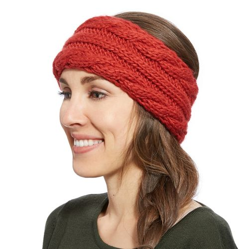 Stirnband Ariat Cable Headband brick (rot)
